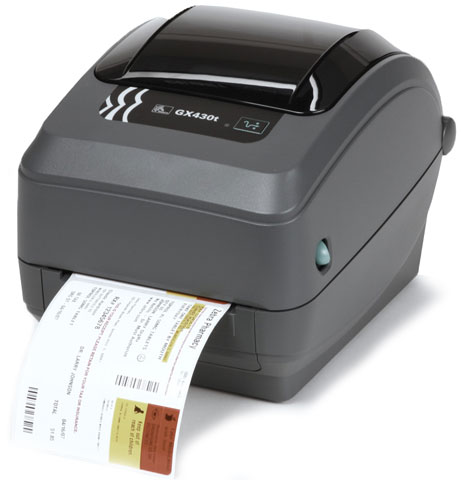 Zebra GX430t label etiketten