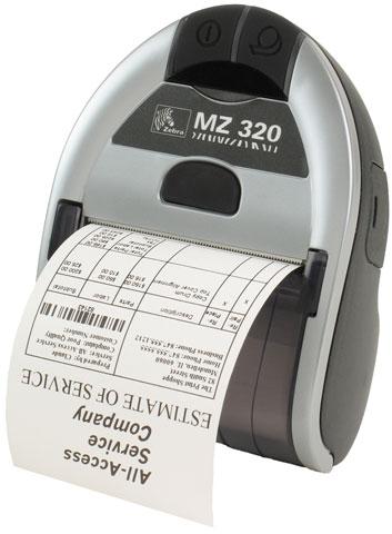Zebra MZ320 label etiketten