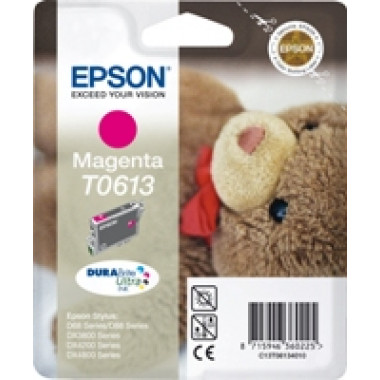 Epson T0613 inkt cartridge (T06134010) Magenta (8ML) - Origineel