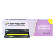 Brother TN-243 / TN-247 toner cartridge Geel - Huismerk