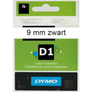 Dymo 40913 Labeltape D1 tape S0720680 Zwart op Wit (9mm x 7m)