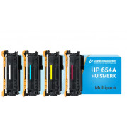 HP 654A toner cartridge / HP 654X toner cartridge Multipack - Huismerk set